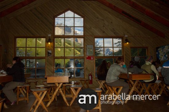 Chileno - Refugio & Camping: View from dining room