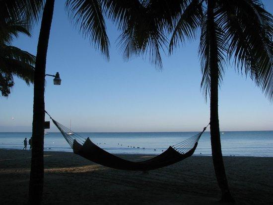 Nirvana on the Beach: Relaxing on the beach.