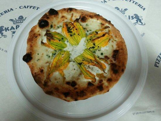 pizza fiori di zucca ripieni