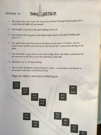 Hotel Geysir: Rule #4... encourages the waste of water