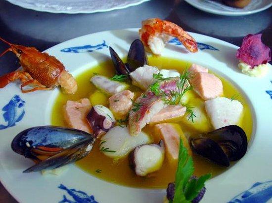 Restaurant & Weinstube Holzöfele: Fischsuppe