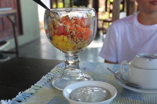 Gumbo Limbo Villas: breakfast fruit bowl