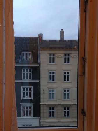 Bertrams Guldsmeden - Copenhagen: View from our room looking out onto Vesterbrogade