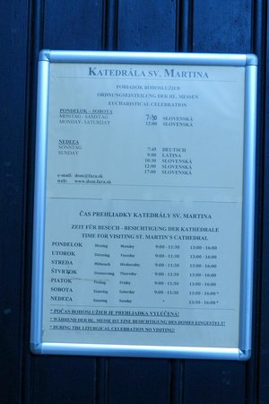 St. Martin's Cathedral (Dom svateho Martina): St. Martin's Cathedral - opening hours