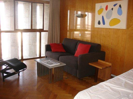 Hotel le Corbusier: chambre cité radieuse