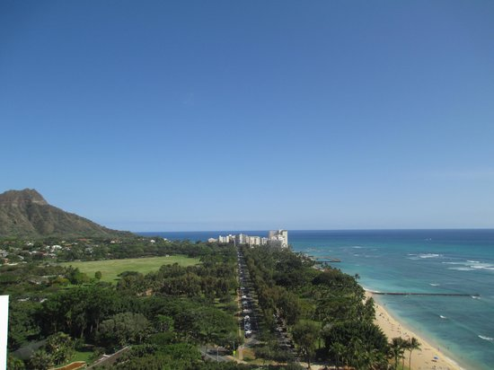 Aston Waikiki Beach Hotel: View from our room