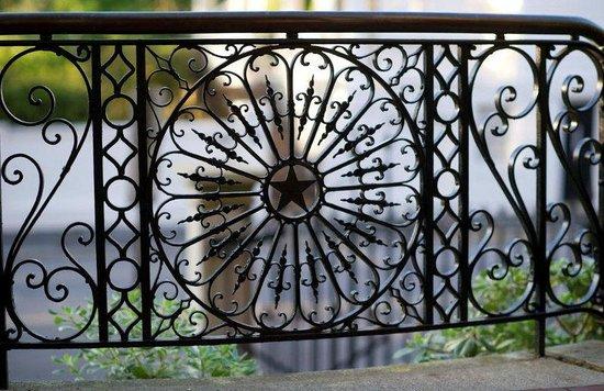 Wentworth Mansion: Original wrought iron work