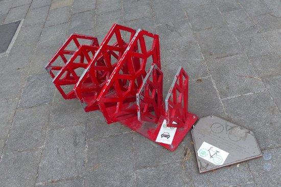 Hviezdoslavovo Namestie - interesting bike rack
