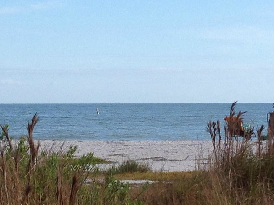 Sanibel Arms Condominiums: from in front of our condo...