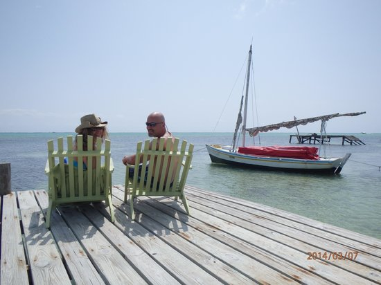Caye Casa: On the hotel dock