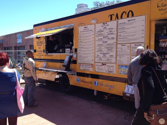 Taco Bus: Order your items here... then they deliver to your table.....