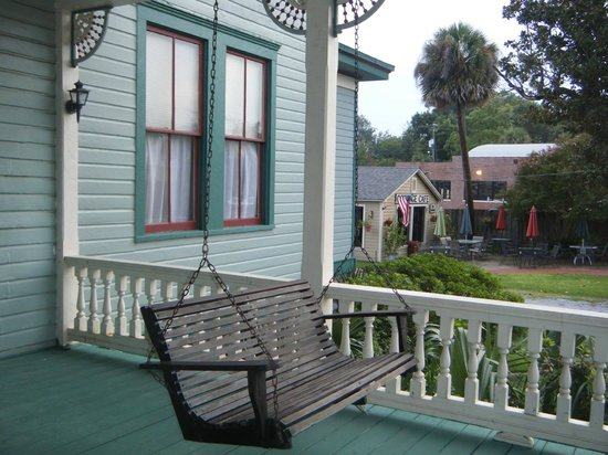 Pensacola Victorian Bed and Breakfast: On the porch of the house looking south west