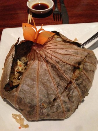 Rice Restaurant & Sushi Bar: The Rice In Lotus Leaf.