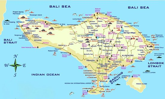 Diving Indo Bali Map
