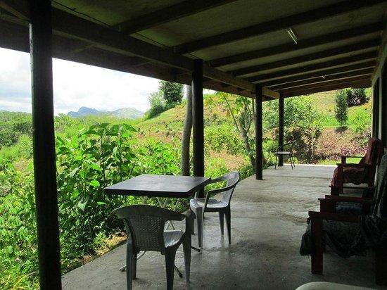Teitei Permaculture Farm: Guest cottage porch