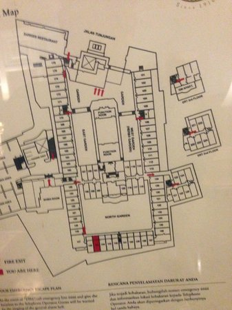Hotel Majapahit Surabaya managed by AccorHotels : Hotel Room Map