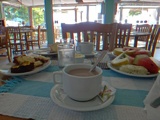 Pousada Recreio da Praia: desayuno con vista al mar