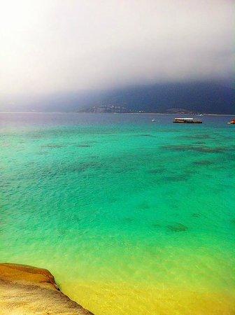 Fenjiezhou Island : 午餐時窗外海景
