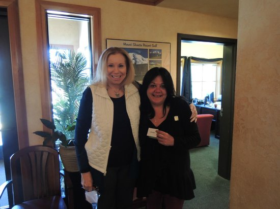 Mount Shasta Resort: I was so happy to present my very first pin to Bonnie