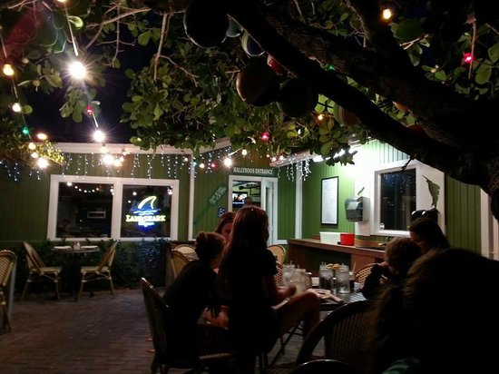 Ballyhoo's Historic Seafood Grille: Ballyhoo's from our outdoor table. Totally in love with the atmosphere!