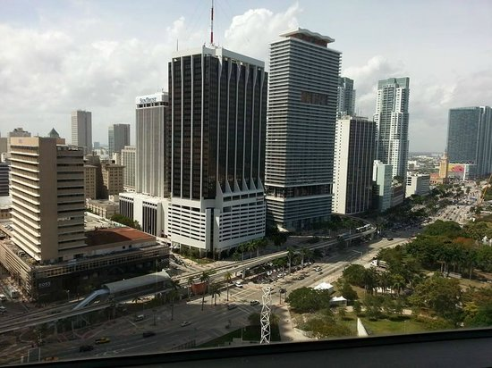 InterContinental Miami: The view from the 25th floor, City side.
