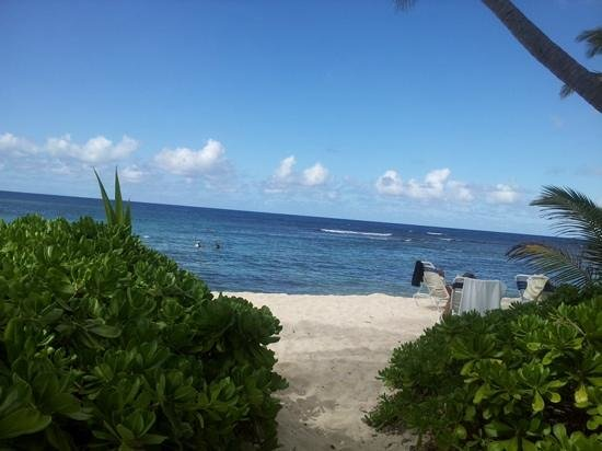 The Buccaneer St Croix: Beach view