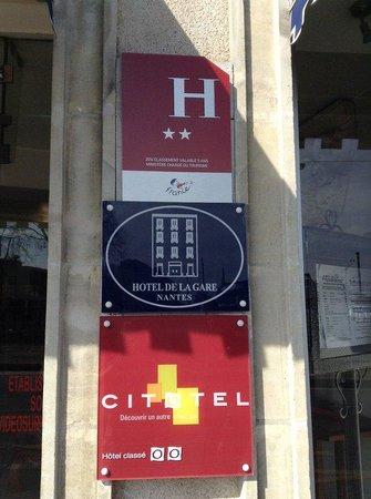 Hotel de La Gare Nantes Station Hotel Nantes