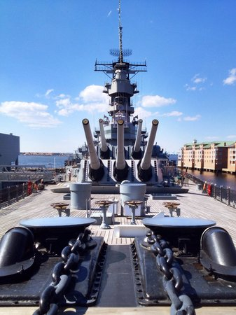 USS Wisconsin: From near the front of ship