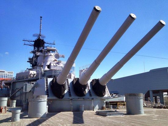 Battleship Wisconsin : From backside