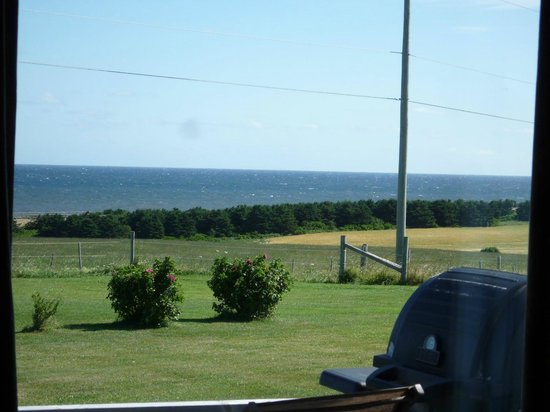 Parkview Farm Tourist Home and Cottages : View of ocean from living room window