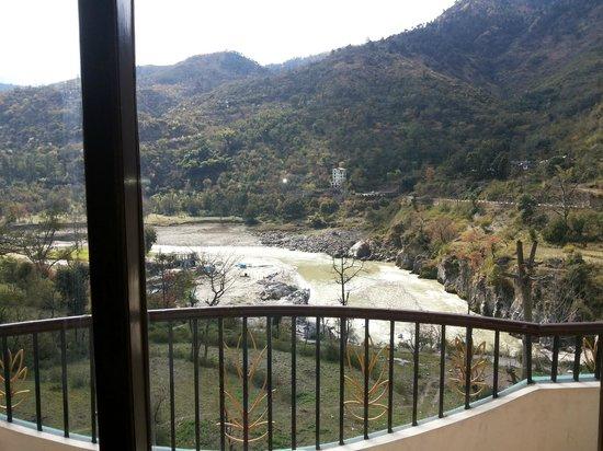 Sandhya Hot Spring Health Care: Room Balcony-Sutlej view
