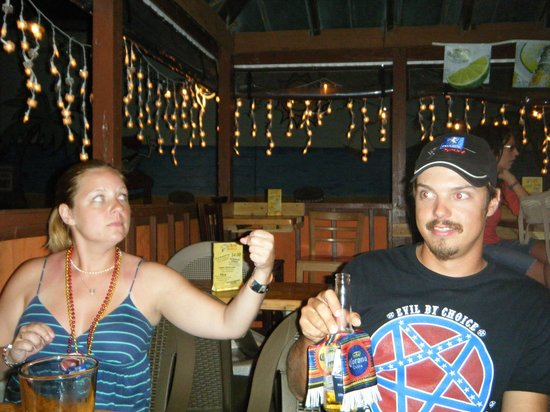 Drunken Clam: Us enjoying drinks outside on Cinco de Mayo