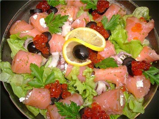 Mix: Салат с лососем