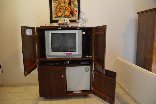 Dalmanuta Gardens - Ayurvedic Resort & Restaurant: Outdated TV