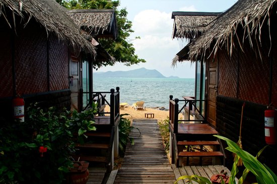 The Sunset Village Beach Resort: Bungalows mit eigenem Strandabschnitt.