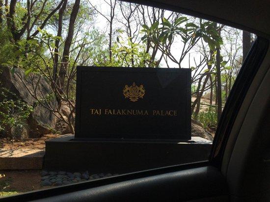 Taj Falaknuma Palace: Sign at Gate