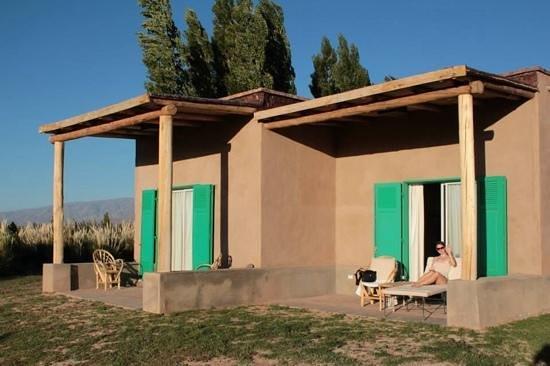 Paso de los Patos: the terrace of our room in the pousada
