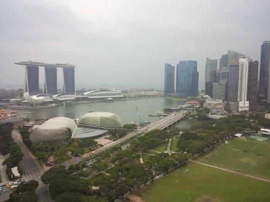 Swissotel The Stamford Singapore : ベランダからマリーナが一望できます