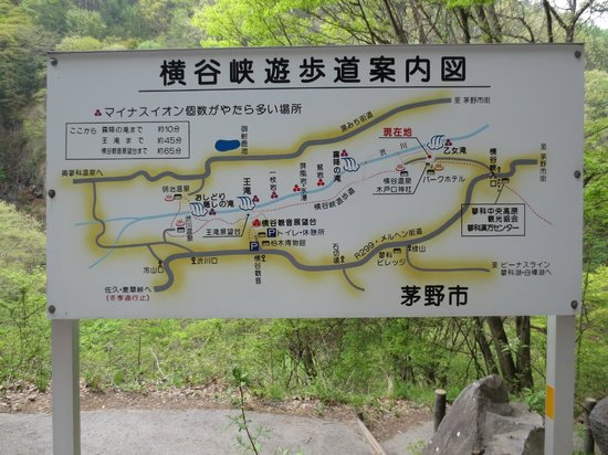 Otome Falls: 横谷峡遊歩道案内図