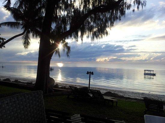 Severin Sea Lodge: Aussicht beim Frühstück