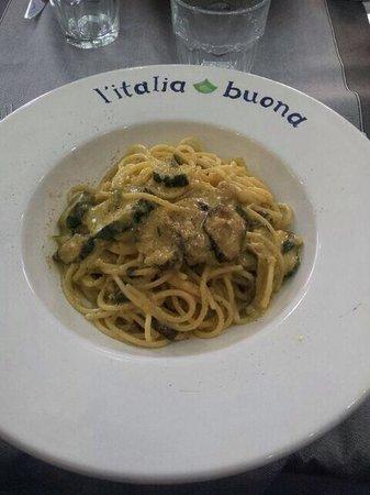 L'italia buona: Spaghetti alla Nerano! Delicious!