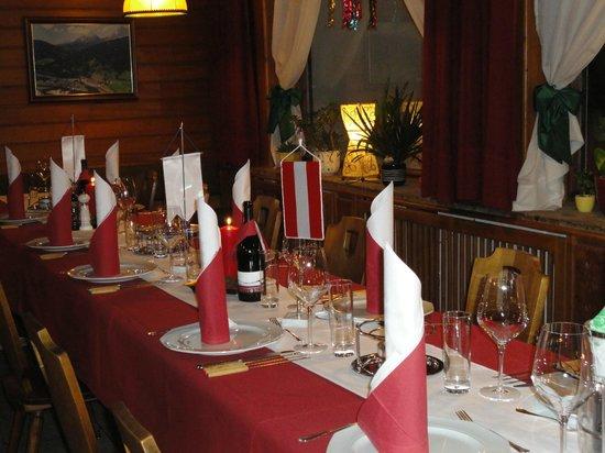 Hotel Gasthof Taferne: Gedeckte Tafel