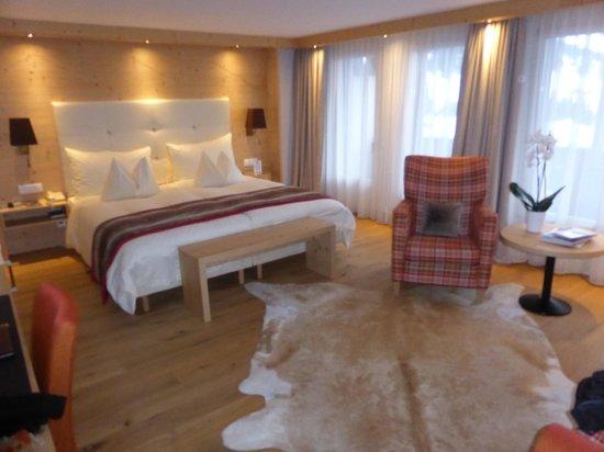 Golfhotel les Hauts de Gstaad: Lit