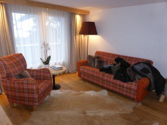 Golfhotel les Hauts de Gstaad: Coin salon