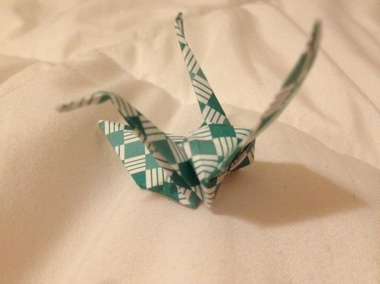 Ryokan Sawanoya : they give you a paper crane on your first day in :)