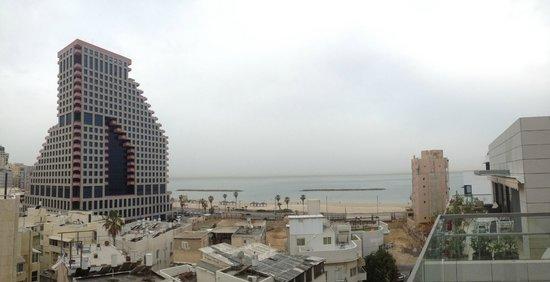 Hotel Gilgal: Vue depuis la terrasse du petit-déjeuner
