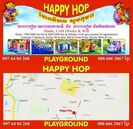 Happy Hop Playground: Marchflyer