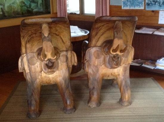 carved elephant chairs picture of mount elephant. Black Bedroom Furniture Sets. Home Design Ideas