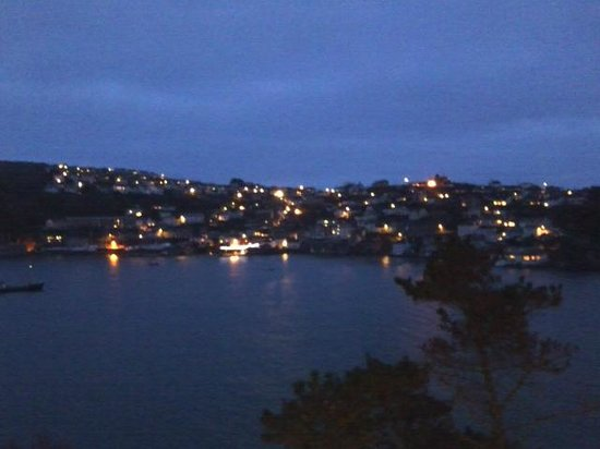 The Fowey Hotel: view at night from room