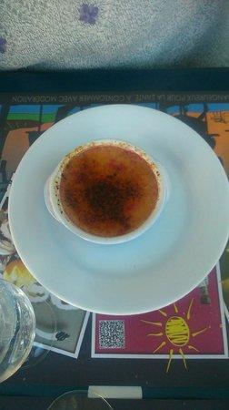 Le Vivaldi: La crème brûlée à la framboise